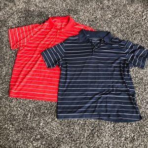2 Nike Men's golf shirts. EUC!